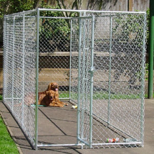 Galvanized Chain Link Dog Kennel, Wire Mesh Cage pictures & photos