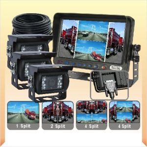 Quad Monitor Rear View System with OSD Menu pictures & photos