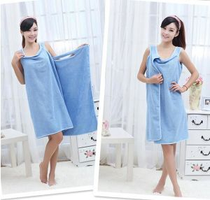 3 Holes Wearable Microfiber Magic Bath Towel pictures & photos