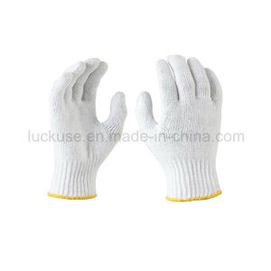 10 Gauge Bleach Color Working Cotton Glove (JF-CT009)