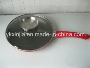 Cookware Aluminum Frying Pan with Lid for Pouring Oil Kitchenware pictures & photos