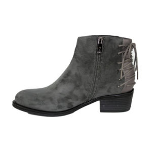 Low Heel Shoes Winter Fashion Ankle Boots pictures & photos