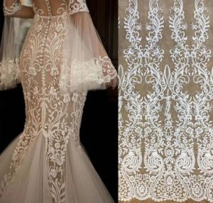 Elegent Embroidery Lace Fabric Bridal Lace Fabric
