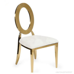 Sensational Modern White Stainless Steel Gold Wedding Oval Back Dining Chair For Banquet Events Dinner Room Theyellowbook Wood Chair Design Ideas Theyellowbookinfo