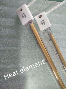Single Tube Halogen Infrared Lamp with Gold Reflector pictures & photos