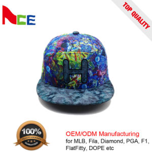 22a202bf6bb China 100% Wool Material and Flat Brim Type Tie-Dye 5 Panel Flexfit ...