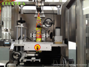 Double Labeling Head Sleeve Shrink Labeling Machine pictures & photos