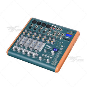 PRO 99 DSP Effect 8 Channels USB Mini Sound Mixer pictures & photos