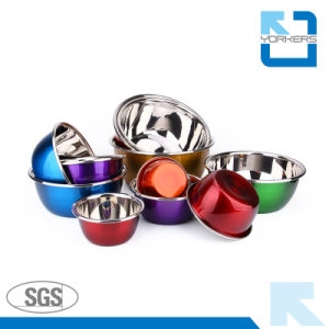 Colorful Stainless Steel Mixing Bowls/Salad Bowls/Soup Bowls pictures & photos