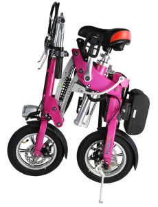 "Portable 12"" 2 Wheels Electric Folding Bike"