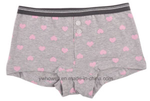 Girl′s Cotton Spandex Printed Hipster Underpants