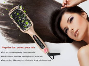 Ionic Ceramic Hair Straightening Brush with Mch Heater