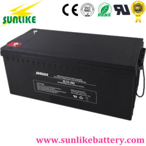 12V200ah Sealed Lead-Acid AGM Deep Cycle Solar Battery for UPS pictures & photos