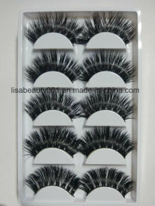 Wholesale Custum Super Long Full Lashes Mink Fur Lashes 3D Natural Curly Handmade Lahses pictures & photos