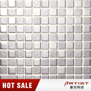 Japanese Ceramic Mosaic Tile, Silver Color Mosaic