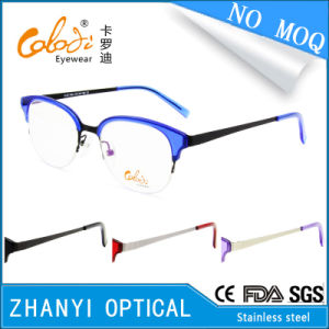 No MOQ Fashion Stainless-Steel Eyewear Eyeglass Glasses Optical Frame (S8201)