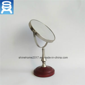 "Wholesale Standing Metal Round 5"" Magnified Table Cosmetic Mirrors, Bathroom Makeup Mirror pictures & photos"