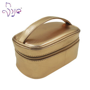 Rose Gold Cosmetic Bag with PU Handle Sedex Audit