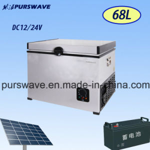 Purswave Bd/Bc-68 68L vehicle DC Portable Refrigerator by Compressor for Camping 12V24V220V110V-25degree Powered by Solar by Battery pictures & photos