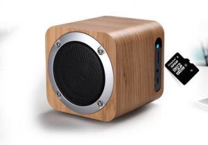 Wood Wireless Office Professional Bluetooth Speakers With Audio Tf Card