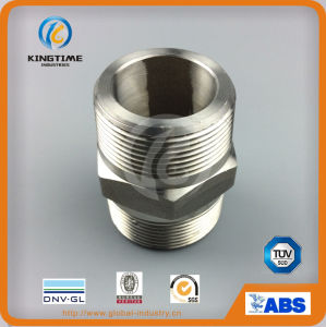 Stainless Steel Threaded Hex Nipple Steel Forged Nipple (KT0556) pictures & photos