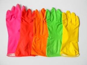 Latex Household Gloves for Home & Garden Use pictures & photos