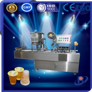 High Performance Automatic Plastic Cup Mayonnaise Filling Sealing Machine