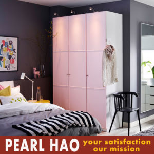 Pinky Countryside Style Melamine Wood Wardrobe pictures & photos