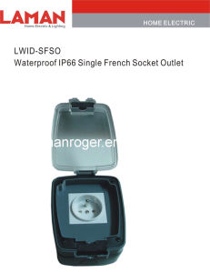 LWIPD-SFSO IP65 Waterproof Single French Socket Outlet