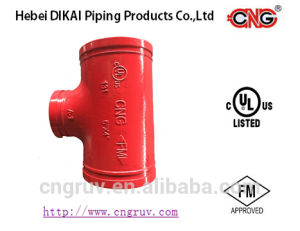 FM UL Approved Grooved Pipe Fitting/Cast Reducing Tee