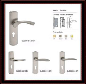 Zinc Alloy Handle Lock / Door Handle Lock (SL008S12-SN)
