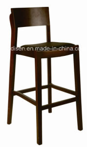 Wooden Bar Stool with Backrest (DS-L141B)