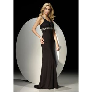 Column Sweetheart Floor Satin Bridesmaid Dress