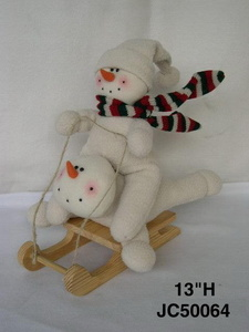 Christmas Sleigh Car Snowman