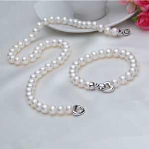 Real Freshwater Pearl Necklace and Bracelet Sets pictures & photos