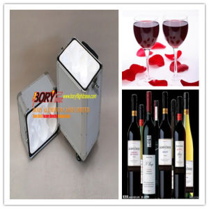 Double Bottle Travel Wine Carrier with Aluminium Trim Wine Case.