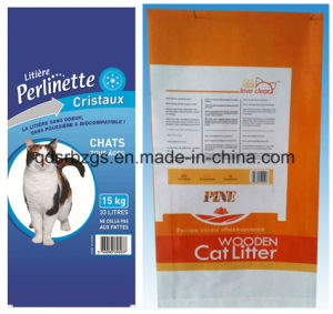 BOPP Film-Laminated Plastic Packaging PP Woven Bag for Cat Litter pictures & photos
