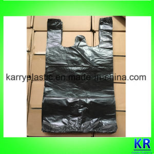 HDPE Refuse Sack with Handle T Shirt Trash Bags pictures & photos