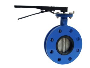 U Section Flanged Butterfly Valve with Lever Operator pictures & photos
