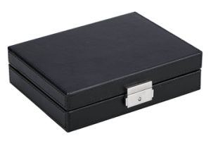 Top Open Luxury Covenient and Tidy Hotel Leather Jewelry Box pictures & photos