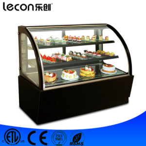 1.2m Commercial Free Standing Glass Modern Cake Showcase