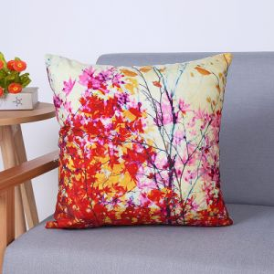Digital Print Decorative Cushion/Pillow with Botanical&Floral Pattern (MX-94) pictures & photos