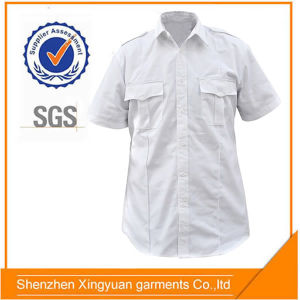 ca2e5b313 China Star Sg White 100%Polyester Security Guard Uniform for Men of Short  Sleeve Working Shirt - China Men Guard Shirt, Short Sleeve Shirt