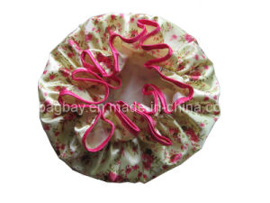 Fashion Lady Satin Shower Cap (SCBG09-007)