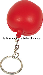 Apple Shape PU Stress Toy with Key Ring