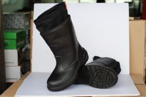 Black Steel Toe Cap Safety Shoes pictures & photos