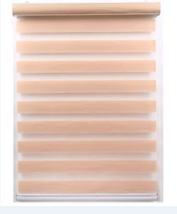 Manufacturer Customized Continuous Loop Beaded Chain Roller Shades / Window  Zebra Blackou Blinds Curtain Drape, Solar, Block out UV Rays