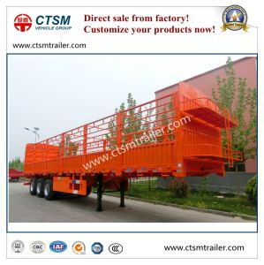 Chinese Manufactured 70tons Stake/Fence Semi Truck Trailer