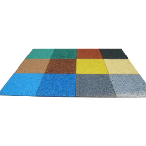 Qingdao Colorful Rubber Tile, Recycled Rubber Tiles pictures & photos