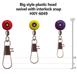 Wholesale New Style Plastic Head Swivel with Interlock Snap pictures & photos